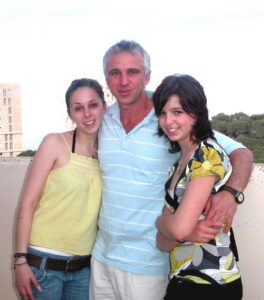 Dima Ioffe and his daughters