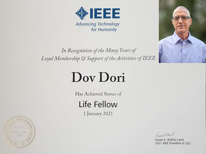 Prof. Dov Dori and the Diploma
